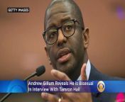 'I Don't Identify As Gay, But I Do Identify As Bisexual'- Andrew Gillum Reveals To Tamron Hall