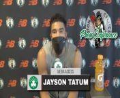 BRIGHTON, MA -- Jayson Tatum spoke to the media following the team's practice on Sunday. <br/><br/>Tatum on leadership: \