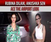 Popular Tv actresses Rubina Dilaik and Anushka Sen were clicked at Mumbai airport on Monday, rocking casual chic looks.<br/><br/>#rubinadilaik #rubinahotpictures #anushkasen #khatronkekhiladi11<br/>