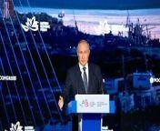 Putin calls absence of Russia-Japan peace treaty 'nonsense' <br/>President Vladimir Putin says it is \